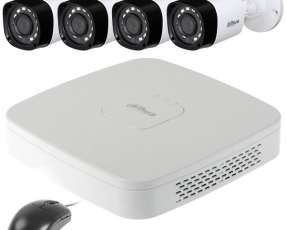 Kit CFTV Dahua DVR DH-KIT|XVR4104C 4 Canais con 4 Cámaras + HD 1TB - Blanco