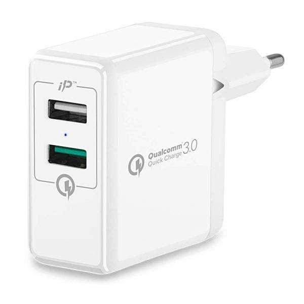 Adaptador USB de Tomada Spigen Essential F207 000AD21390 de 2 Salidas - Blanco - 0