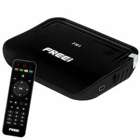 Receptor FTA Freei FR1 Full HD con IPTV|Wi-Fi|HDMI Bivolt - Negro