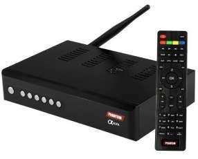 Receptor FTA Phantom Alfa Full HD con IPTV|Wi-Fi|HDMI|USB Bivolt - Negro