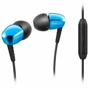 Audífono Philips SHE3905BL con Micrófono - Azul|Negro