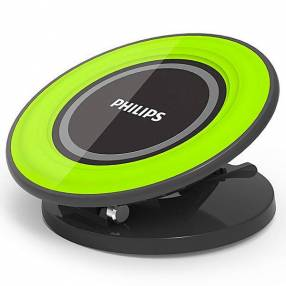 Cargador Wireless Philips DLP9041 10 Watts para Smartphones - Negro|Verde