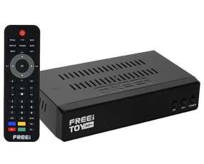 Receptor FTA Freei Toe HD+ Full HD con HDMI Wi-Fi USB Bivolt - Negro