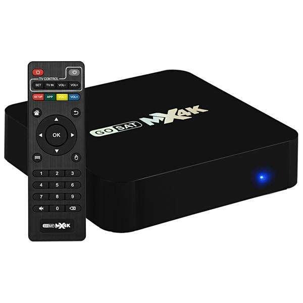 TV Box GoSat MX4K GS-216 Wi-Fi LAN eMMC 16GB + 2GB RAM Bivolt - Negro - 0
