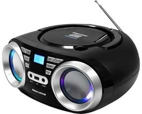 Radio MegaStar MP-1813BT con Bluetooth|USB|CD|FM Bivolt - Negro