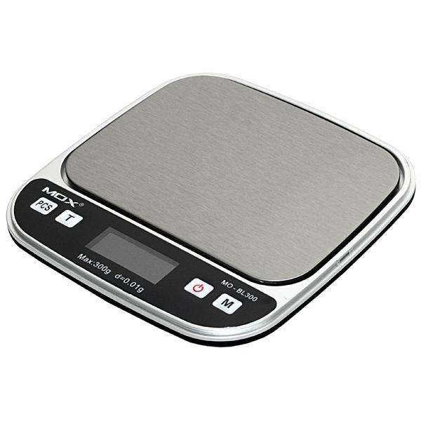 Balanza Digital de Bolsillo para Joias MOX MO-BL300 para hasta 300 g - Plateado|Negra - 0