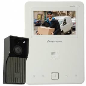 """Video portero Visionbras VDP400 Tela 4.3"""" con Cámara Externa Visão Infravermelha - Blanco"""