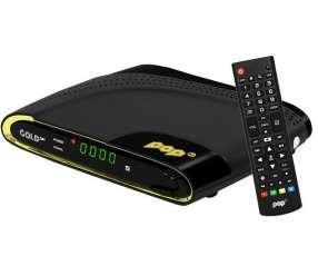 Receptor FTA Pop TV Gold Sat 4K Ultra HD Wi-Fi|USB Bivolt - Negro