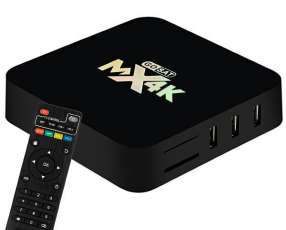 TV Box GoSat MX4K GS-028 4K Ultra HD Wi-Fi 8GB + 2GB RAM OS Android 7.01 Bivolt - Negro