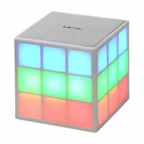Speaker MOX MO-S07 con Bluetooth Iluminación LED Batería 1.200 mAh - Blanco