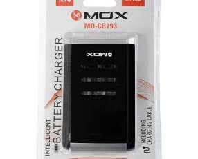 Cargador de Pila MOX MO-CB793 para 4 Unidades (AA|AAA) Bivolt - Negro