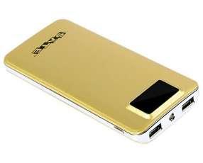 Cargador Portátil Satellite A-PB148 de 6.000 mAh con 2 Salidas USB - Dorado