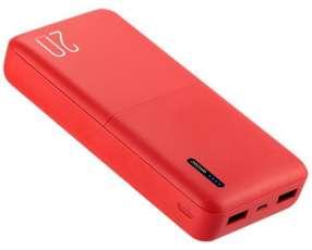 Cargador Portátil WESDAR S81 20.000 mAh 2 Salidas USB - Rojo