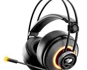 Auriculares Headset Pro Auriculares con iluminación RGB   Micrófono - Negro