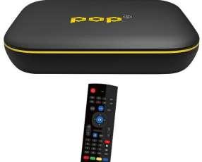 Receptor FTA Pop TV con IPTV|Wi-Fi|HDMI Bivolt - Negro