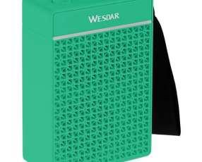 Speaker WESDAR K35 3 watts Bluetooth Bateria de 1.200 mAh - Verde