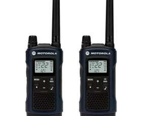 Walkie talkie Motorola T-460MC para hasta 56Km 35 millas negro