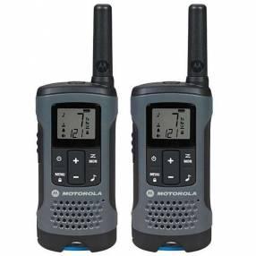 Walkie Talkie Motorola T-200MC para hasta 32 Km 20 millas negro gris