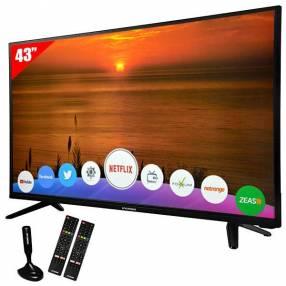 "Smart TV LED de 43"" Heundai HY43NTFB Full HD con Wi-Fi|Conversor Digital|Antena ISDB-T"