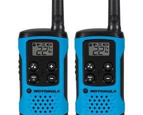 Walkie-Talkie Motorola T-100MC 25 km 22 Canais - Azul Negro