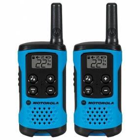 Walkie Talkie Motorola T-100MC 25 km 22 canales azul negro