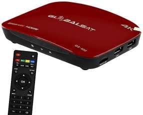 Receptor FTA Globalsat GS-600 Ultra HD IPTV|HDMI|USB Bivolt - Rojo|Negro
