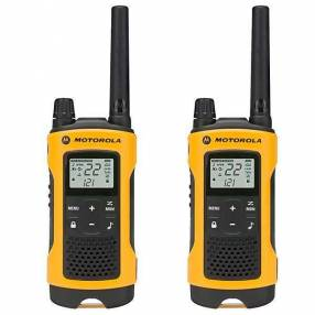Walkie Talkie Motorola T-400MC para hasta 56 km bivolt amarillo negro