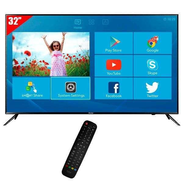 Smart TV LED de 32 pulgadas Haier LE32K6500DA HD HDMI|USB|VGA|Conversor Digital - 0