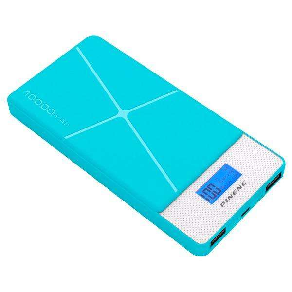 Cargador Portátil PINENG PN-983 10.000 mAh 2 Salidas USB - Azul - 0