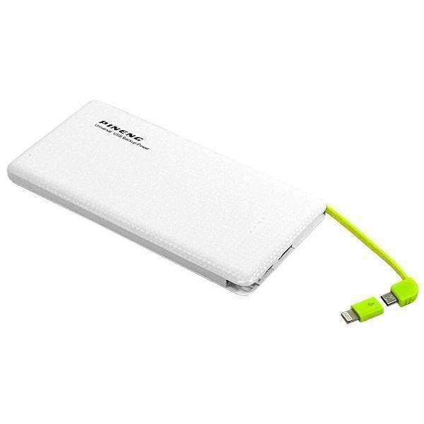Cargador Portátil PINENG PN-951 10.000 mAh Salidas USB|Micro USB - Blanco - 0
