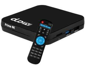 Receptor FTA Duo Prime 4K con HDMI|Wi-Fi OS 8.1 Bivolt - Blanco