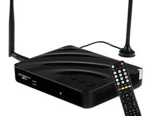 Receptor FTA Azamerica ST3 Ultra HD con Wi-Fi HDMI USB Bivolt - Negro