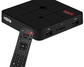 Receptor FTA Mídia MAX Ultra HD 4K Wi-Fi|Bluetooth|HDMI|USB Bivolt - Negro
