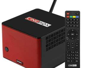 Receptor FTA CineBox Extreno Z Wi-Fi con Bluetooth y Parlantes 12W - Negro|Rojo