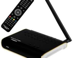 Receptor FTA Tuning P'920 Full HD con Wi-Fi|HDMI|USB Bivolt - Negro|Blanco