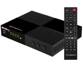 Receptor FTA Azamerica Silver+Plus Full HD con Wi-Fi|IPTV|HDMI|USB Bivolt - Negro