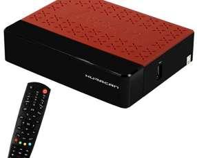 Receptor FTA Audisat HURACAN K20 Full HD con ACM|2 LNB|Wi-Fi|HDMI Bivolt - Negro|Rojo