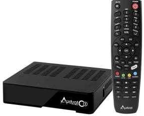 Receptor FTA Audisat C1 Wi-Fi|LAN HDMI USB Bivolt - Negro