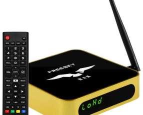 Receptor FTA Freeske RAK Wi-Fi Full HD con ACM 100-240 V ~ 50|60 Hz - Dorado|Negro