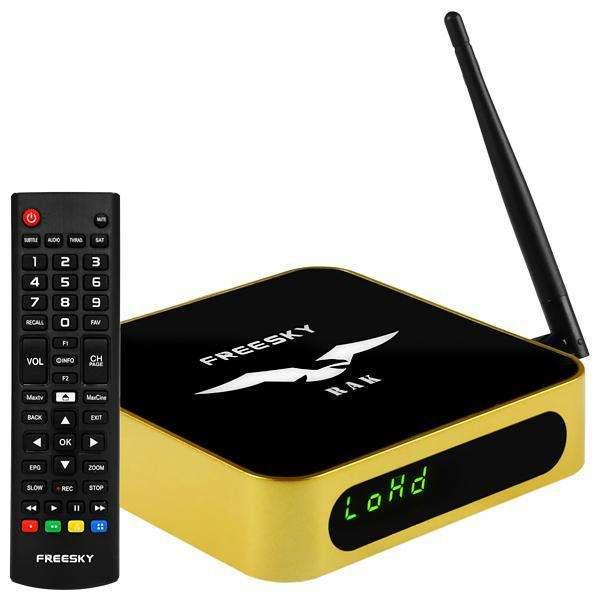 Receptor FTA Freeske RAK Wi-Fi Full HD con ACM 100-240 V ~ 50|60 Hz - Dorado|Negro - 0