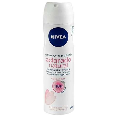 Desodorante Nivea Aclarado Natural Classic Touch Femenino 150 ml