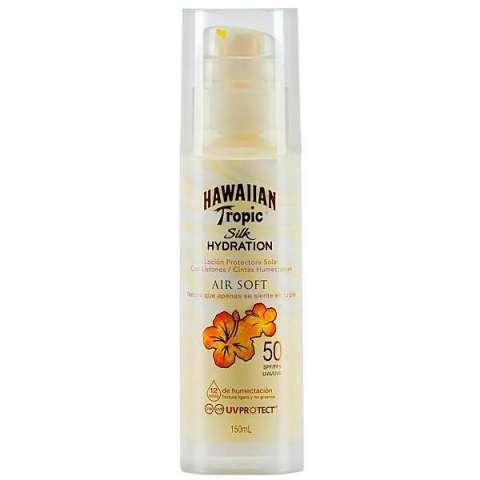 Protector Solar Hawaian Tropic Silk Hedration Air Soft de FPS 50 150 ml