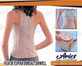 Faja Espinal con corrector de posturas conwell en Paraguay