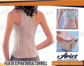 Faja espinal con corrector de posturas Conwell