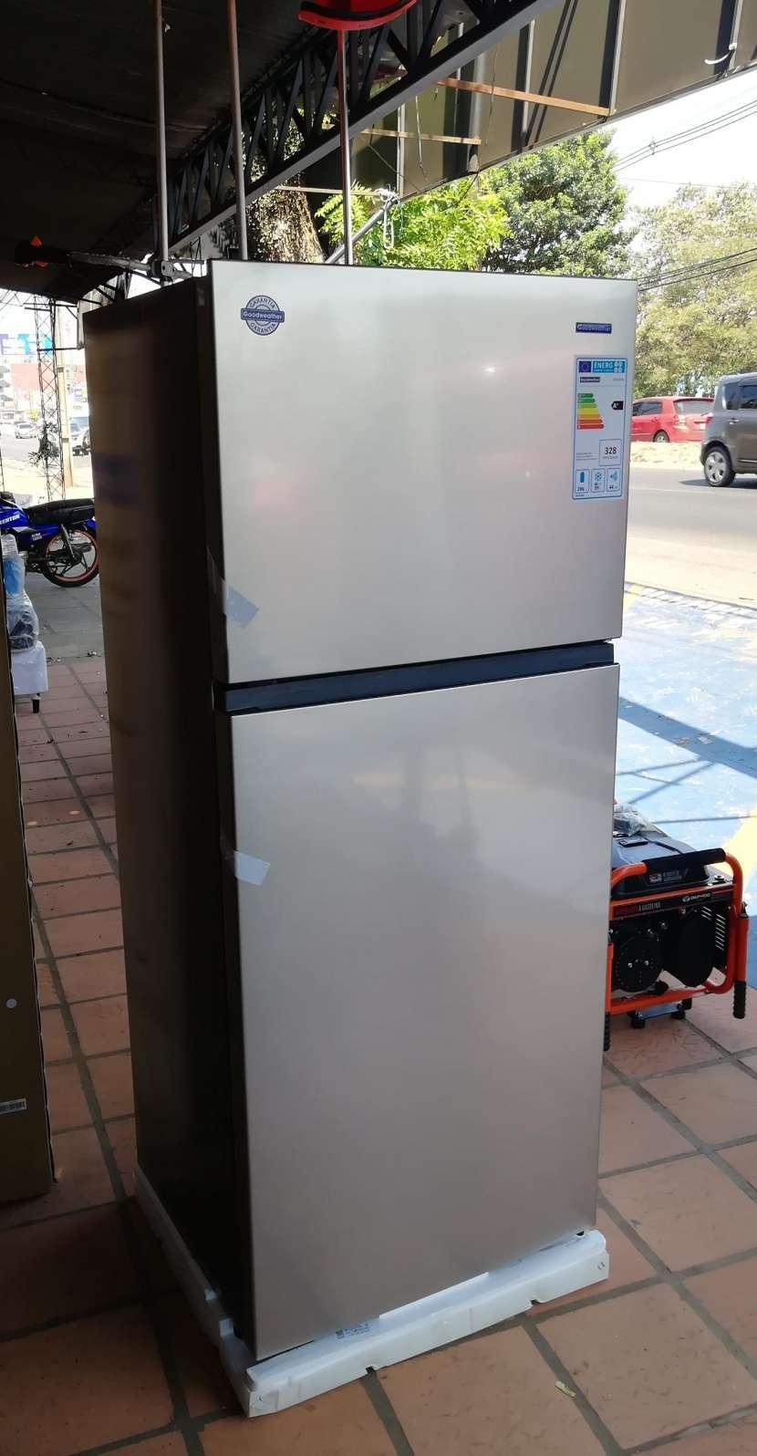 Heladera goodweather 490 litros comercial inox frio seco - 0