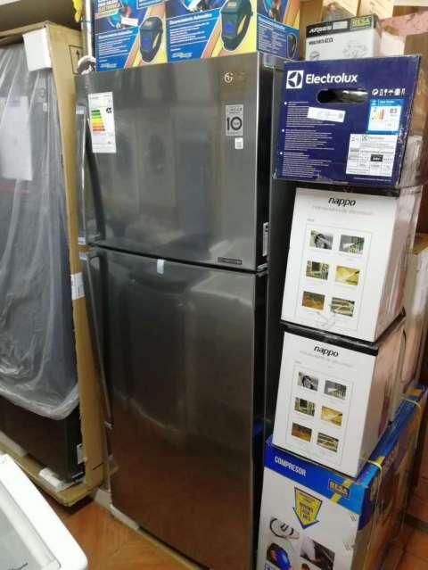 Heladera LG 440 litros inoxidable frío seco