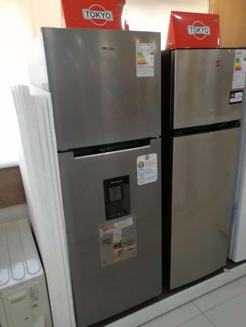 Heladera tokyo 450 litros comercial inox con dispenser de agua frio seco