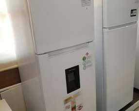 Heladera tokyo 450 litros comercial blanco con dispenser de agua frio seco