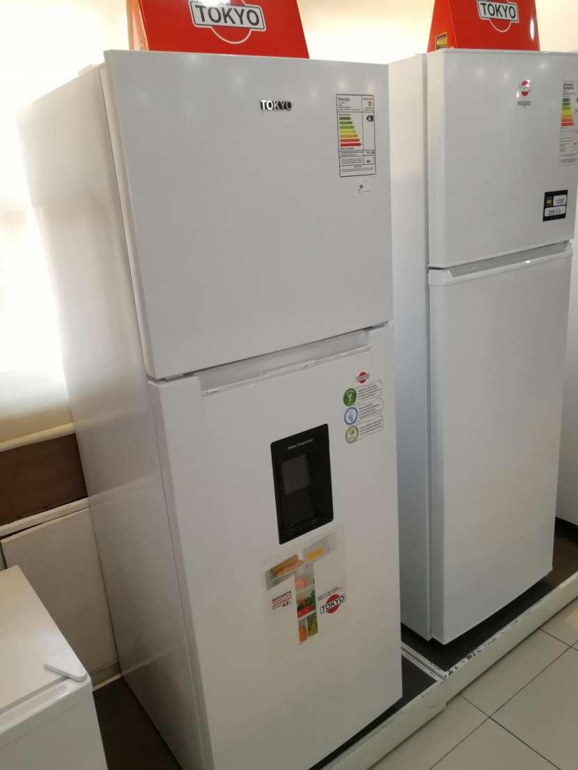 Heladera tokyo 450 litros comercial blanco con dispenser de agua frio seco - 0