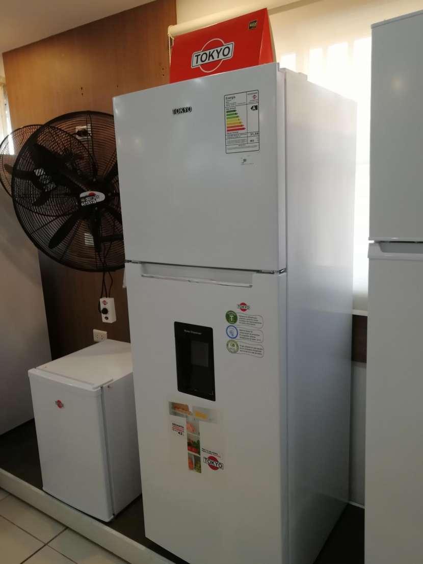 Heladera tokyo 450 litros comercial blanco con dispenser de agua frio seco - 1